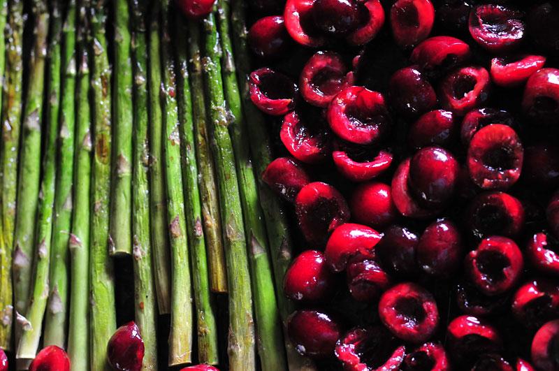 asparagus-cherries