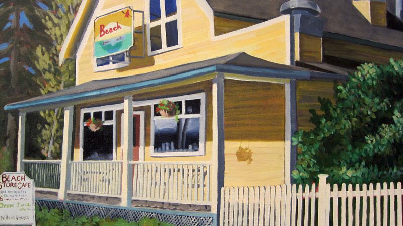 Beach Store Cafe Lummi Island Washington Menu