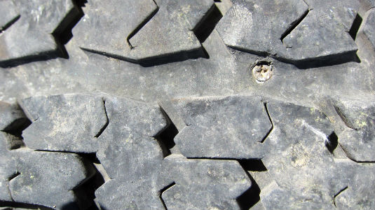 punctured-tire