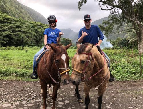 Waipi'o horseback shaka