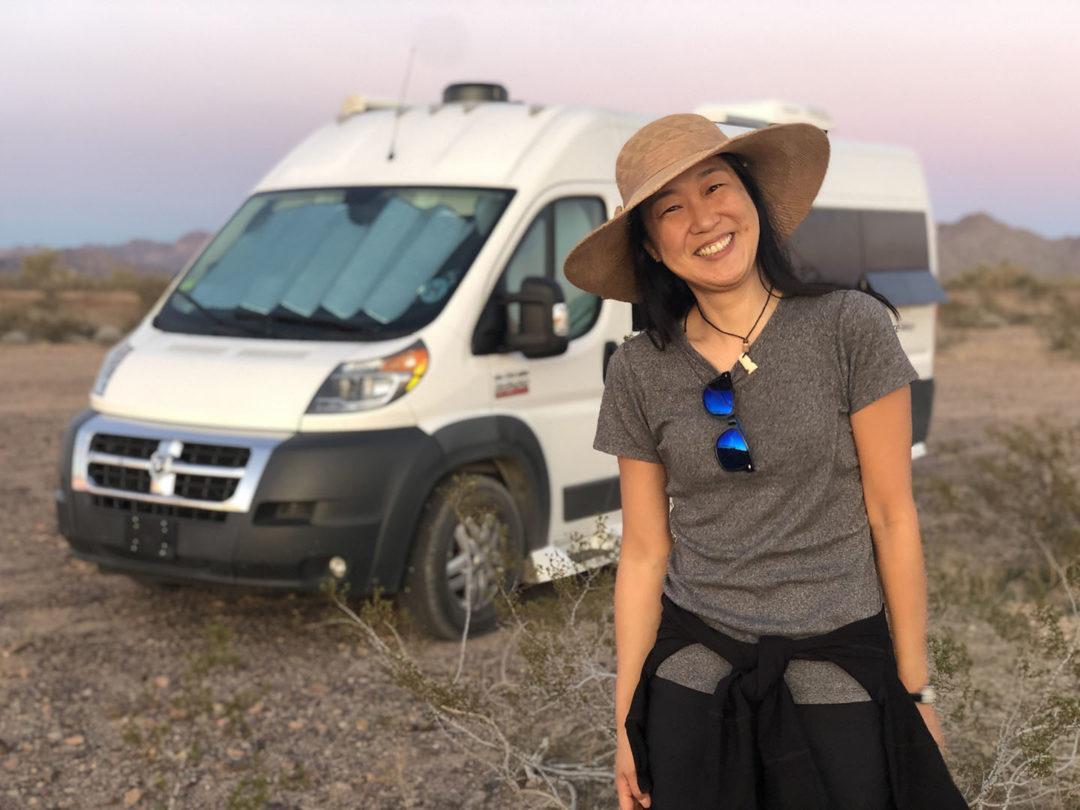 solo van life female