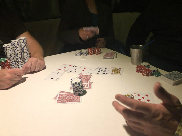poker night in an RV